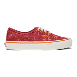 Vans Red Embroidered OG Authentic LX Sneakers VN0A4BV94IE