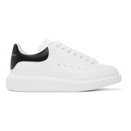 Alexander McQueen White and Black Oversized Sneakers 553680WHGP5