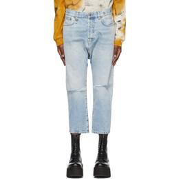 R13 Blue Tailored Drop Jeans R13W6452-896B