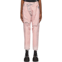 R13 Pink Crossover Jeans R13W2048-532A