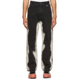 Xander Zhou Black Spray Jeans P30-1