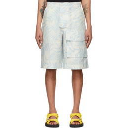 Jacquemus Blue and White Le Short Laurier Shorts 215PA08-215 109143