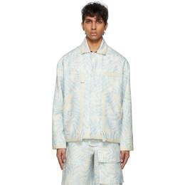 Jacquemus Blue and White Le Blouson Jacket 215BL03-215 109143