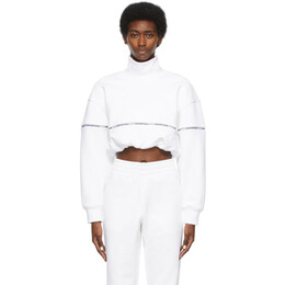 T By Alexander Wang White Logo Tape Turtleneck 4CC2211183
