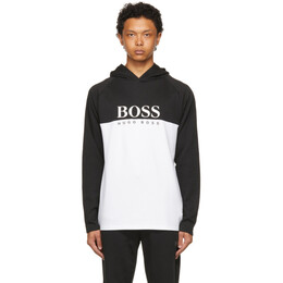 Boss by Hugo Boss Black and White Jacquard Hoodie 50451561