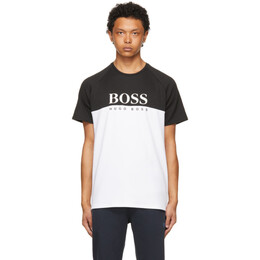 Boss by Hugo Boss Black and White Jacquard T-Shirt 50451547