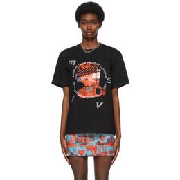 Misbhv Black Rhinestone Tokyo T-Shirt 021M136