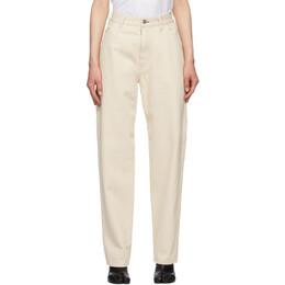 Maison Margiela Off-White Upcycled Workwear Jeans S29LA0087 S30752