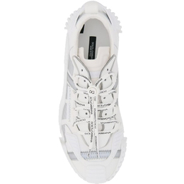 Dolce&Gabbana White NS1 Sneakers in Mixed Materials Size 42 409404