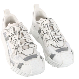 Dolce&Gabbana White NS1 Sneakers in Mixed Materials Size 43 409299