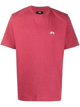 Stussy футболка с вышитым логотипом 1140241