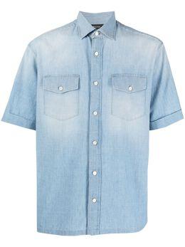 Z Zegna джинсовая рубашка из вареного денима 905306ZCRN8