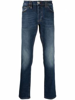 Philipp Plein джинсы Super Straight с эффектом потертости PAACMDT2500PDE004N