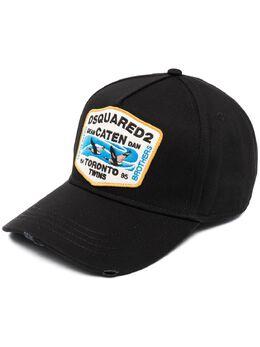 Dsquared2 кепка с нашивкой-логотипом BCM043705C00001