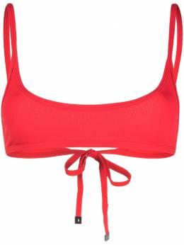 The Attico ribbed-knit bikini top 215WBB18PA16010