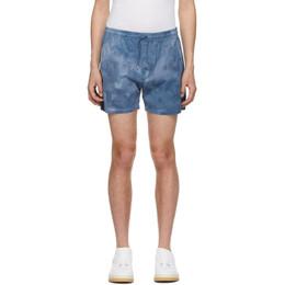Schnaydermans Blue Tie-Dye Shorts 3000603