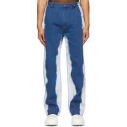 Xander Zhou Blue Spray Jeans P30-3