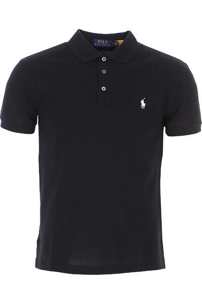 Ralph Lauren Polo Shirt for Men On Sale, Black, Cotton, 2021, M XXL 710541705007