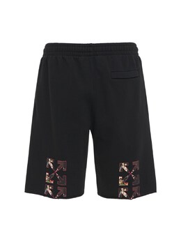 Spray Caravaggio Jersey Sweat Shorts Off-White 73IJRD020-MTAwMQ2
