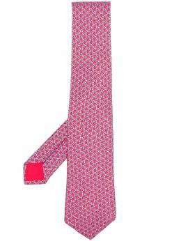 Hermes галстук 2000-х годов с абстрактным принтом HMES180B