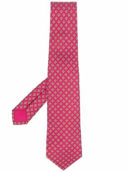 Hermes галстук 2000-х годов с геометричным принтом HMES180R
