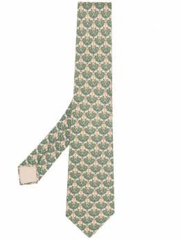 Hermes галстук 2000-х годов с цветочным принтом HMES180J