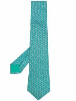Hermes галстук 2000-х годов с абстрактным принтом HMES180C