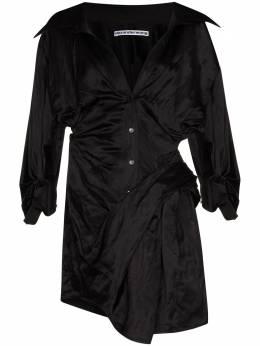 Alexander Wang платье-рубашка Memory с драпировкой 1WC2216380