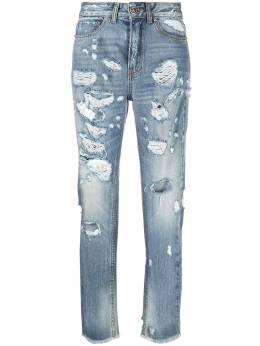 John Richmond укороченные джинсы с прорезями RWP21196JE