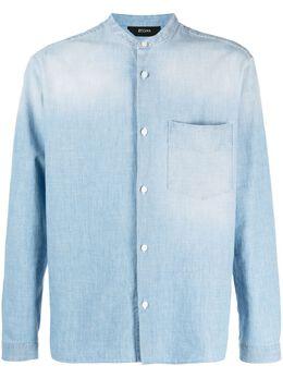 Z Zegna рубашка с воротником-стойкой 905306ZCOG1