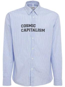 Хлопковая Рубашка Cosmic Capitalism Soulland 73IR6W003-QkxVRSBTVFJJUEVT0