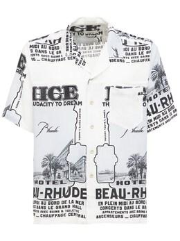 Рубашка С Принтом Rhude 73I5LU012-MDEyOA2