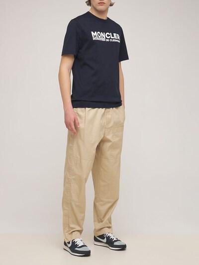 Logo Cotton Jersey Crewneck T-shirt Moncler 73IMJ6073-Nzc40 - 2