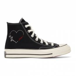 Converse Black Made With Love Chuck 70 Hi Sneakers 171118C