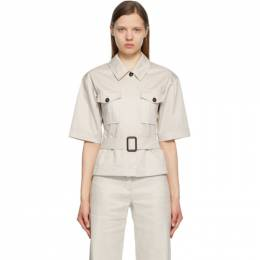 'S Max Mara Beige Rea Belted Shirt 91110312600 MM10195