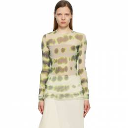 Sportmax Green Mesh Tempra Long Sleeve T-Shirt 29410318600 MM13207