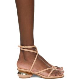 Nicholas Kirkwood Beige Beya Maxi Heeled Sandals 904A17NLS1