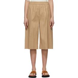 Joseph Beige Linen Long Shorts JP001132