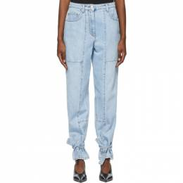 MSGM Blue Cargo Jeans 3042MDP143L 217486
