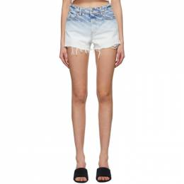 Alexander Wang Blue Denim Bite Logo Shorts 4DC2214930