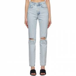 Alexander Wang Blue Dipped Back Jeans 4DC2214341