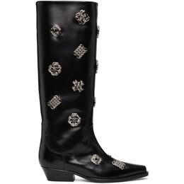 Toga Pulla Black Embellished Tall Boots FTGPW109209021