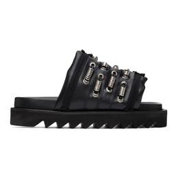 Toga Pulla Black Platform Flat Sandals FTGPW109509005