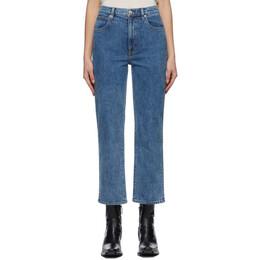 Slvrlake Blue London Crop Jeans LNDC506O KGCN