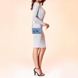 Louis Vuitton Denim Light Epi Leather Twist Limited Edition Wallet On Chain 407822