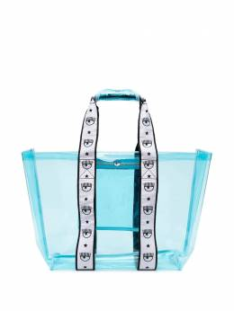 Chiara Ferragni transparent eye-strap tote bag CFBAG006