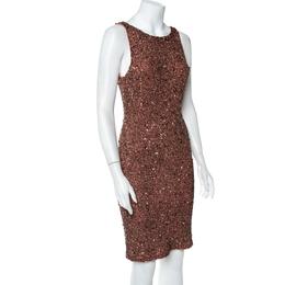 Alice + Olivia Cameo Pink Sequined Sleeveless Kimber Dress M 412025