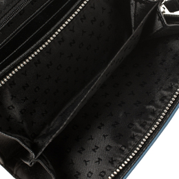 DKNY Blue Leather Flap Wallet 412018