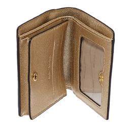 Michael Kors Metallic Gold Leather Compact Wallet 411995