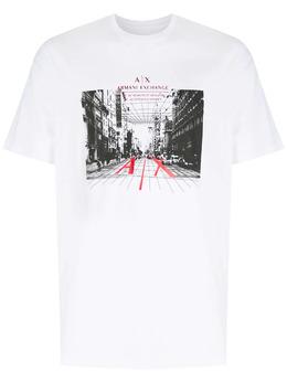 Armani Exchange футболка с логотипом 3KZTFHZJH4Z